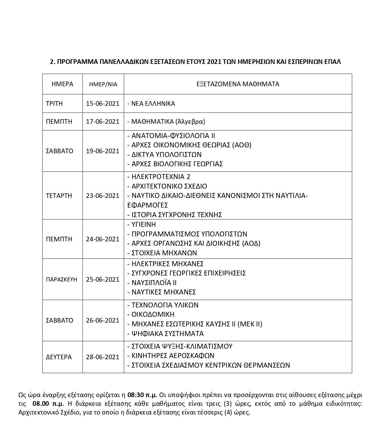 Πρόγραμμα_πανελλαδικών_εξετάσεων_ΕΠΑΛ_2021